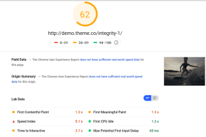 X The Theme PageSpeed Insights Desktop Test