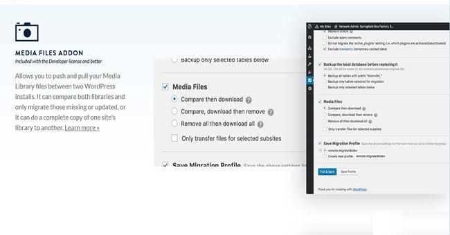 WP Migrate DB Pro Media Files Addon