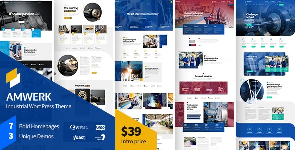 Amwerk - Industry WordPress Theme