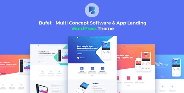 Bufet - Multi Concept Software & App Landing WordPress Theme + RTL