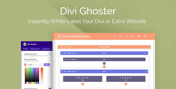Divi Ghoster - WordPress Plugin For Divi
