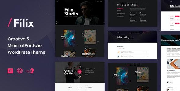 Filix - Creative Minimal Portfolio WordPress Theme