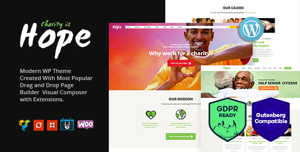 Hope - Non-Profit, Charity & Donations Theme + RTL