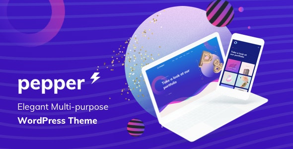 Pepper - Elegant Multi Purpose WordPress Theme