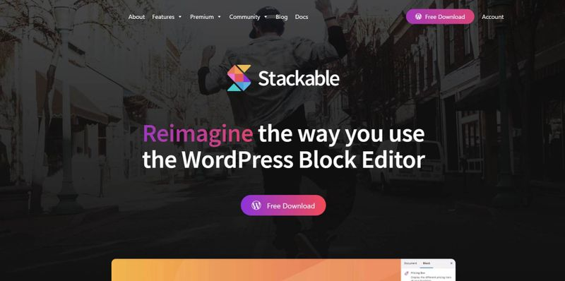 Stackable - Reimagine the Way You Use the WordPress Block Editor