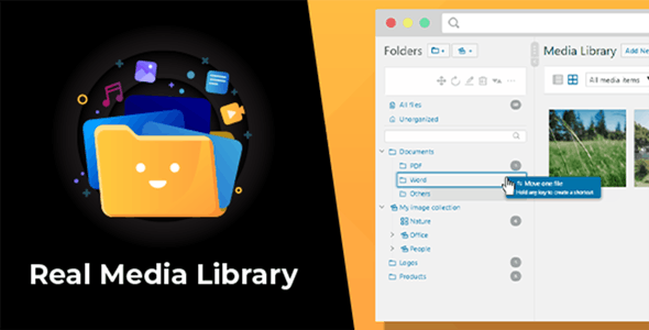WordPress Real Media Library Media Library Folder & File Manager for Media Management