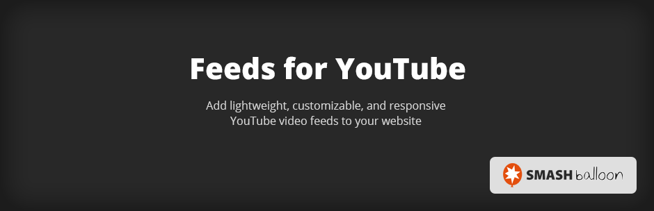 Feeds for YouTube Pro By Smash Balloon