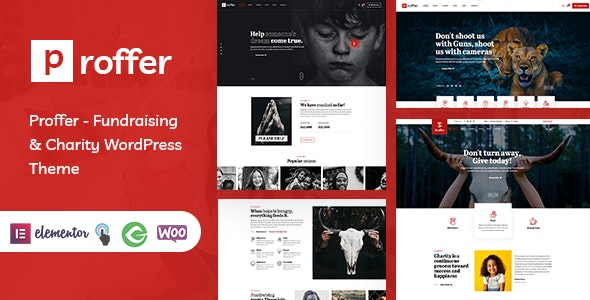 Proffer - Fundraising & Charity WordPress Theme