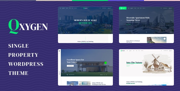 Qxygen - Single Property WordPress Theme