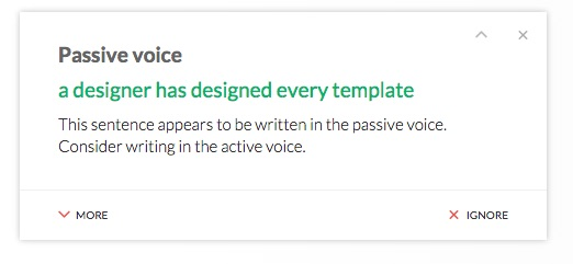 Grammarly-passive-to-active