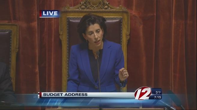 Gov. Gina Raimondo budget address_154307