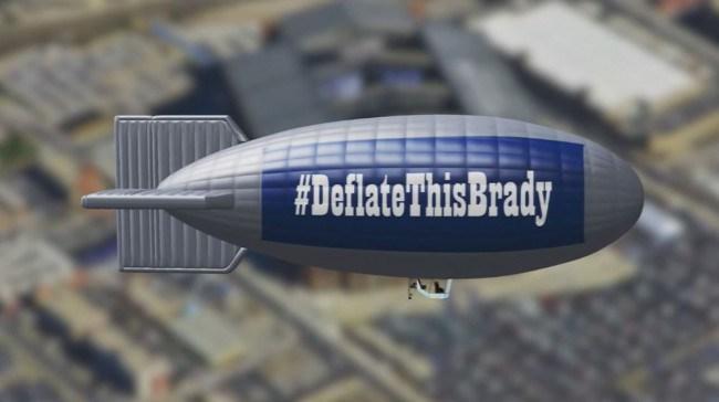 #DeflateThisBrady blimp over Indy_216974
