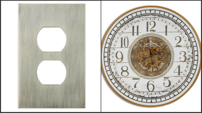 Wall plate, clock recall_273403