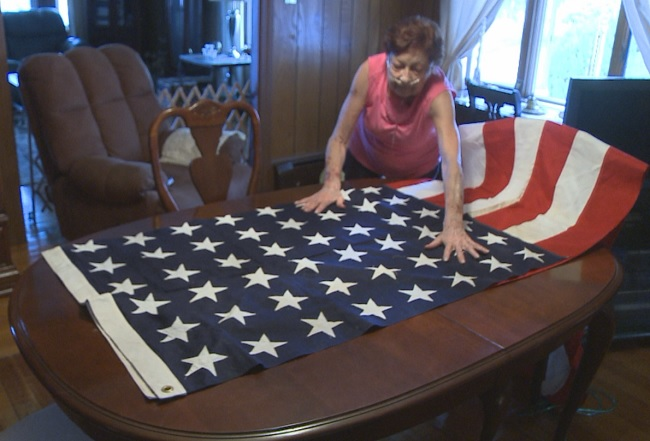 RI Woman donates American flag after seeing Eyewitness News report_325661