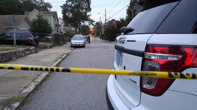 Providence Police investigating a scene, looking for homeowners_337806
