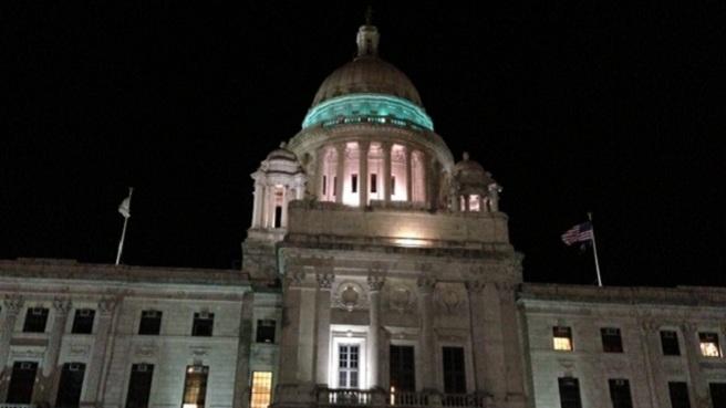 RI Statehouse at night_158248