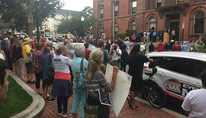 Charlottesville rally in New Bedford_534137