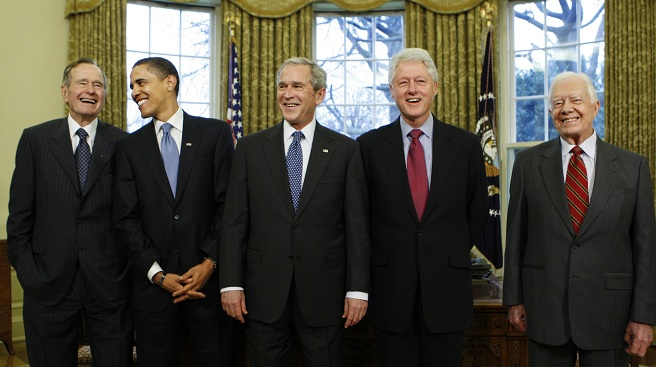 George W. Bush, Barack Obama, Bill Clinton, Jimmy Carter, George H.W. Bush_547663