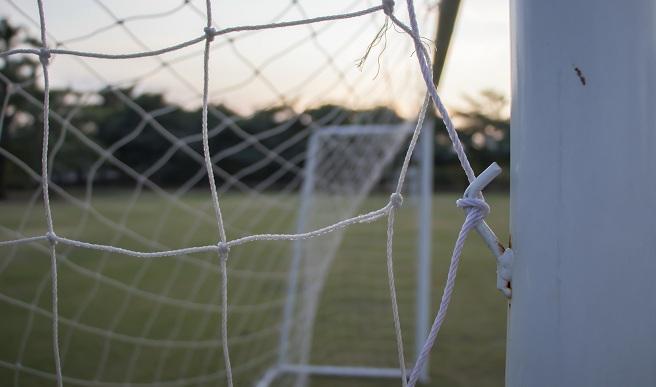 Soccer field, net, goal_582287