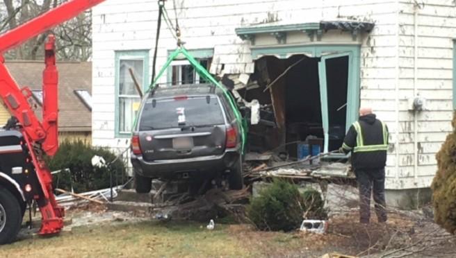 Plainville crash into home E Bacon Street