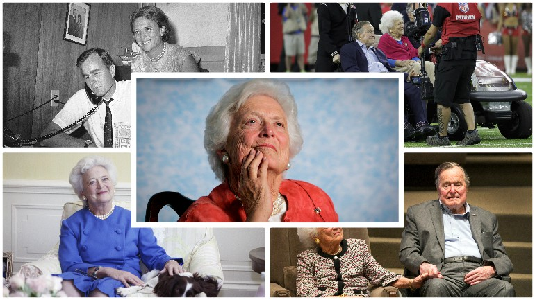 barbara bush collage
