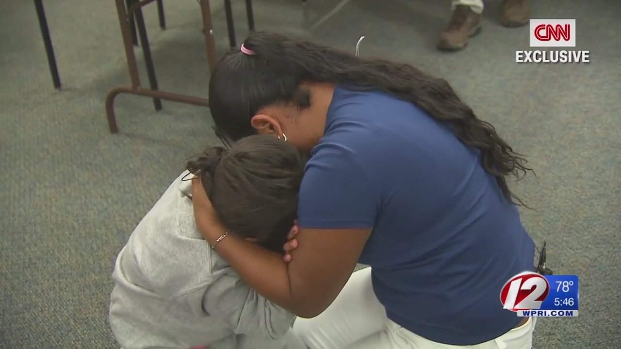 Immigrant Mother and child reunite after separation for two months