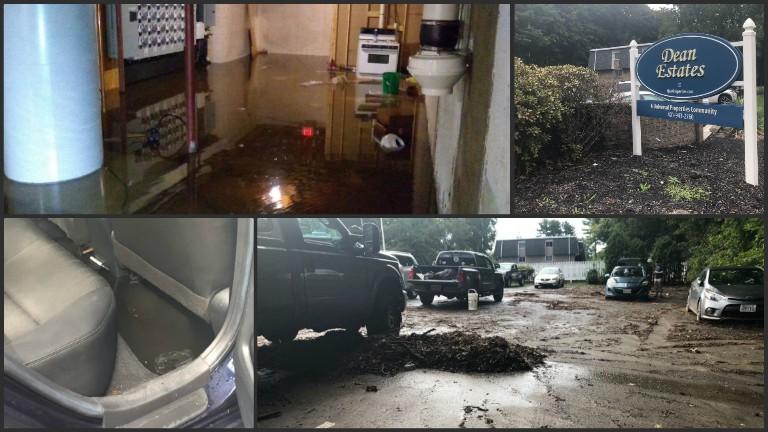 Flooding hits Dean Estates in Cranston