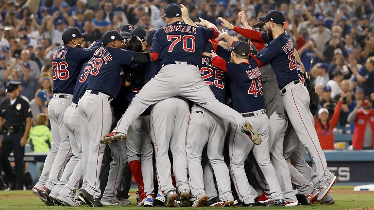 red sox world series win