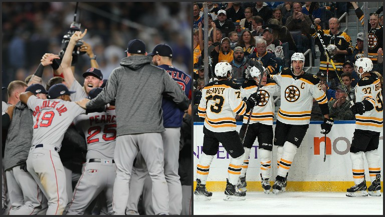Red Sox Bruins collage