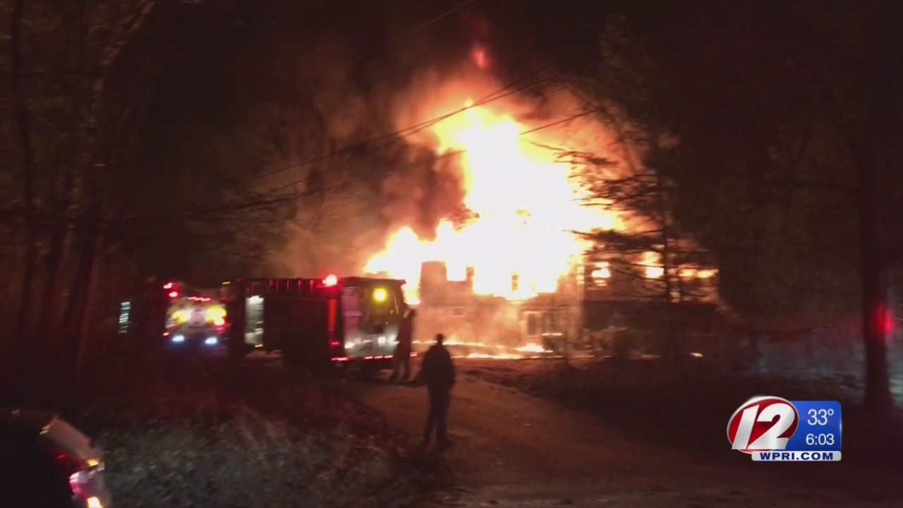 Massive fire at vacant Western Coventry home deemed suspicious