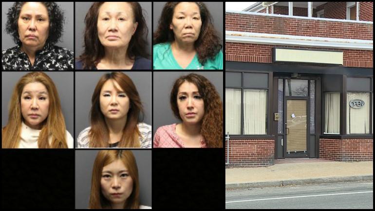 Police arrest 13 women in prostitution sting at Pawtucket spas