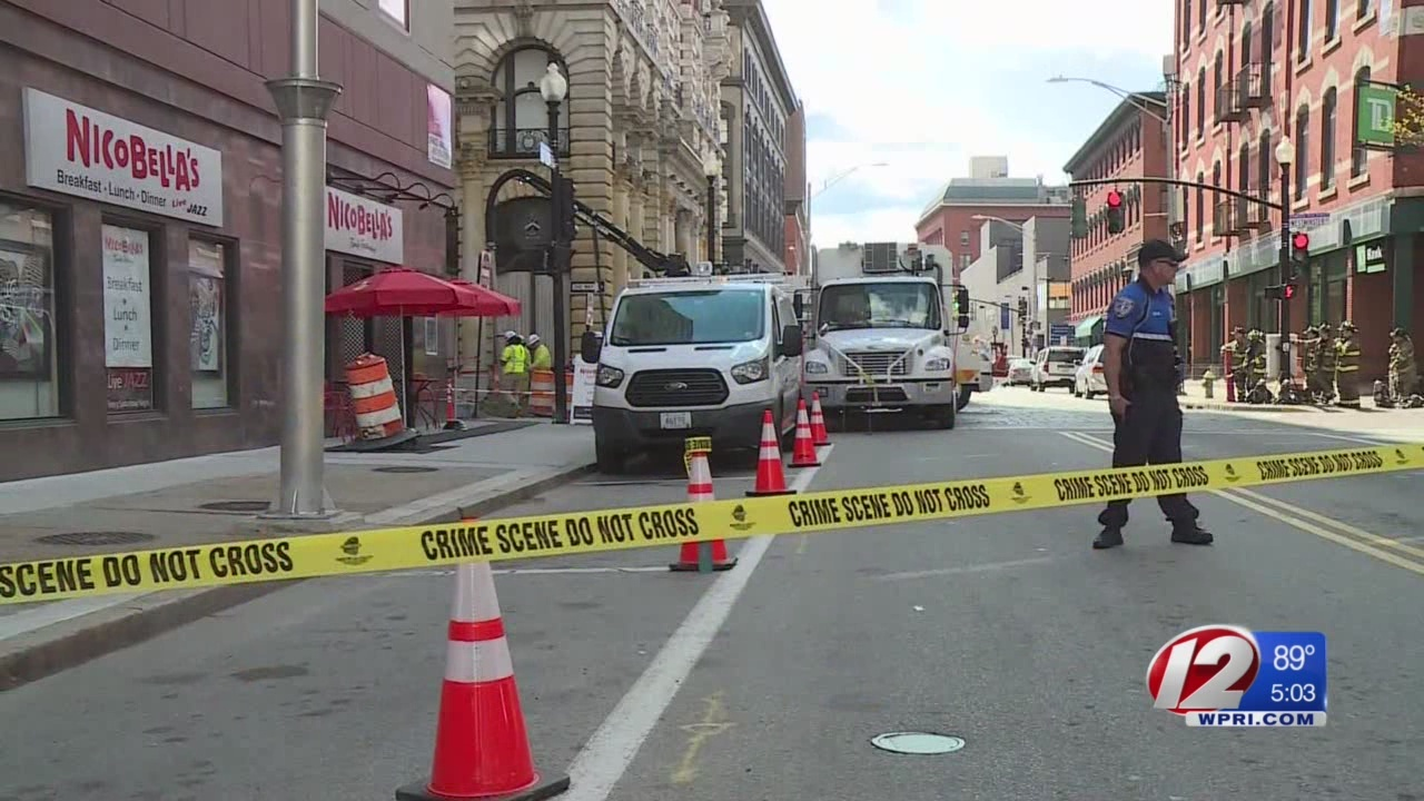 Downtown Providence gas line secured after being hit during construction