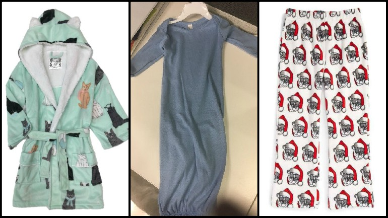 Recalled children's sleepwear fails to meet flammability standards