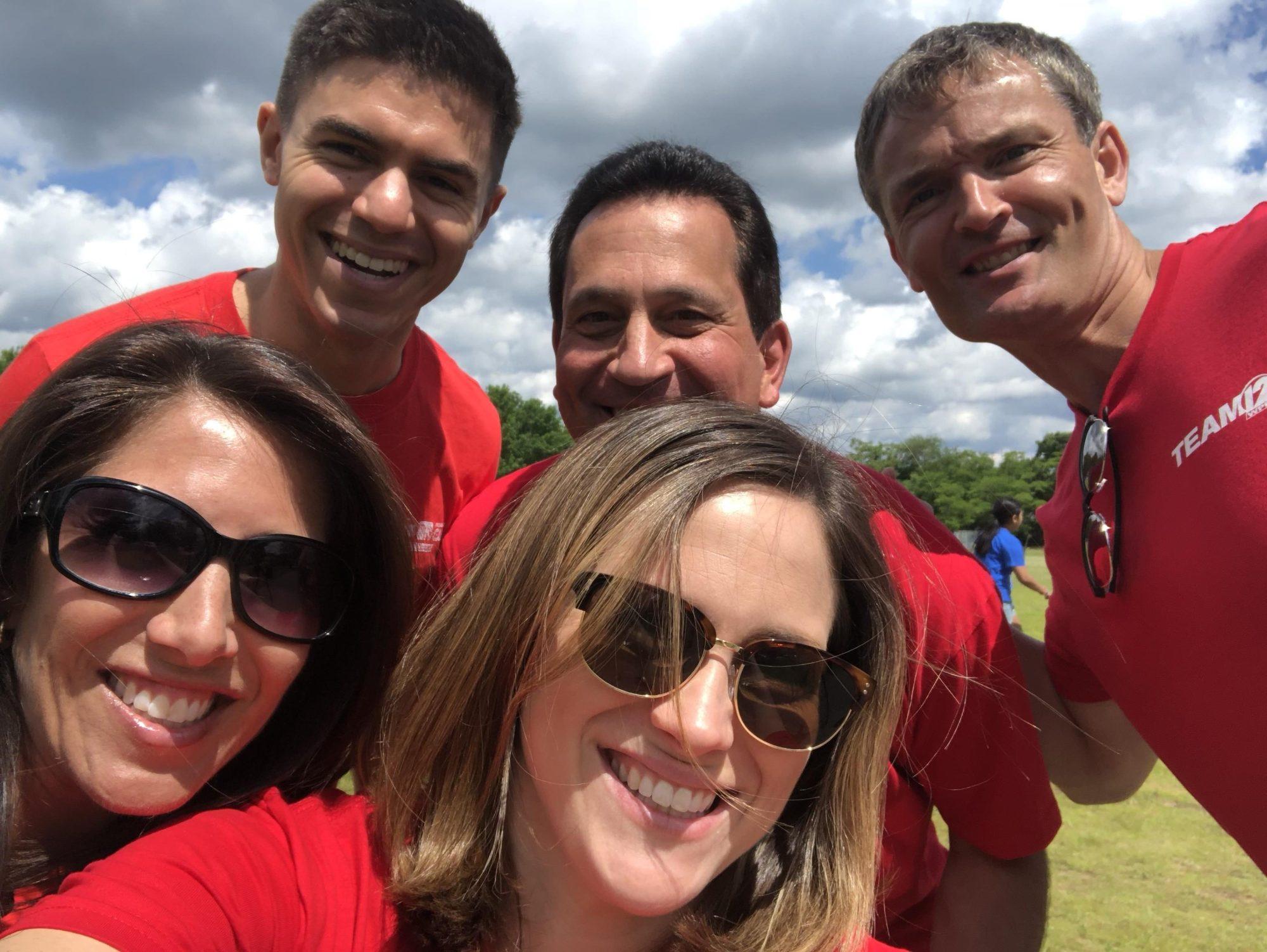 WPRI 12 Selfie at Veazie St Field Day