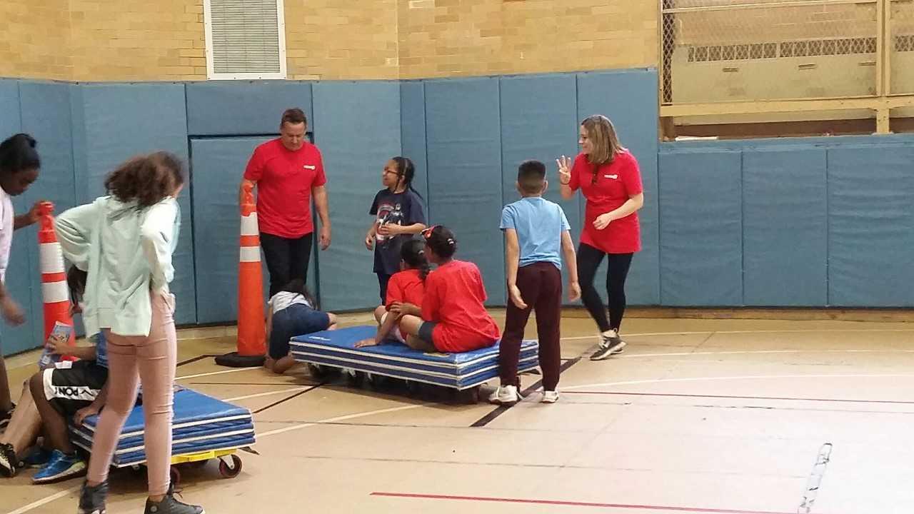 WPRI 12 Participating in Feild Day at Veazie St.