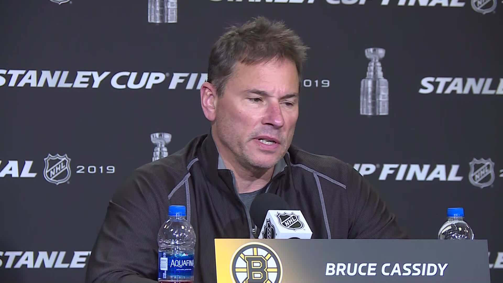 "Video Now: It's ""preparation as usual"" for Bruins ahead of Game 6"