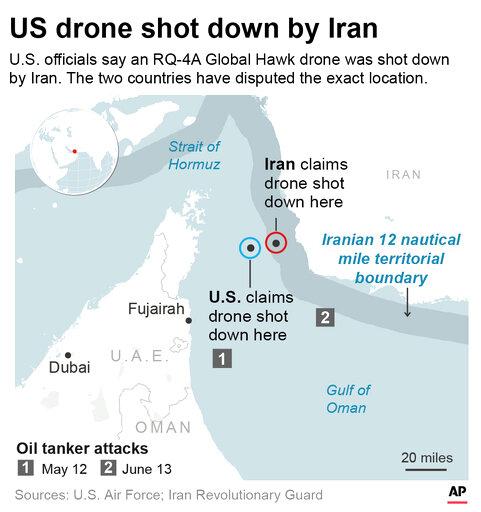 US IRAN DRONE SHOT