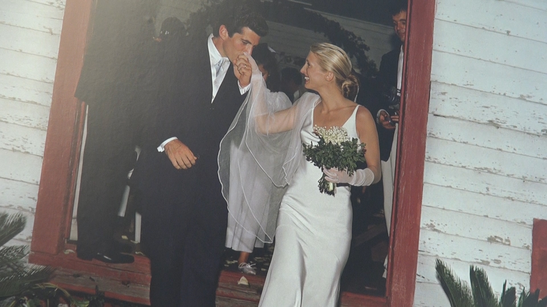 John F. Kennedy Jr. on his wedding day with Carolyn Bessette