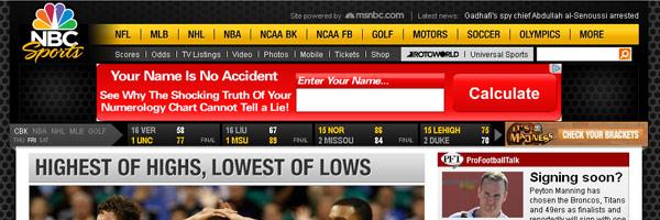 sport website design ideas