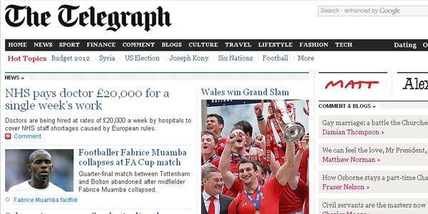 best newspaper design websites