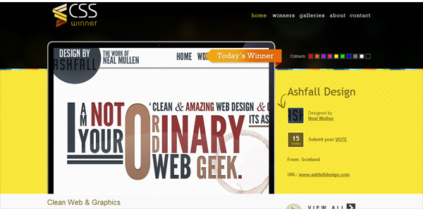 css awards websites
