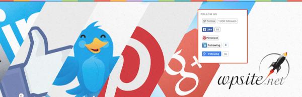 Social Media Follow Us Badges
