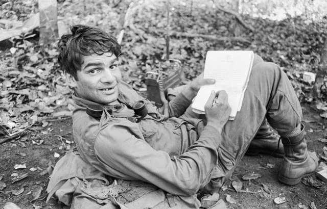 Soldier Writing -