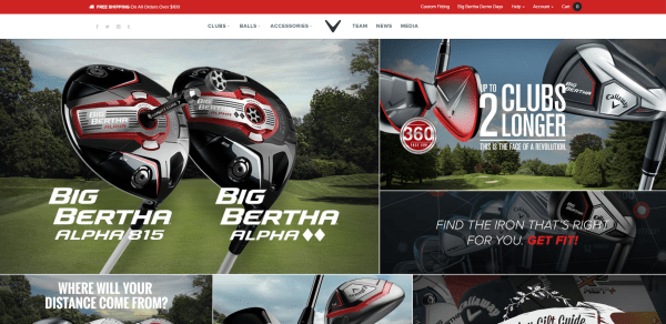 Callaway Golf Site   Golf Clubs   Golf Equipment