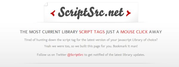 scriptsrc - top websites for developers
