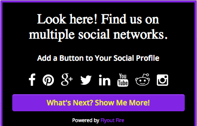 Draw visitors to your social networks and increase your followers!