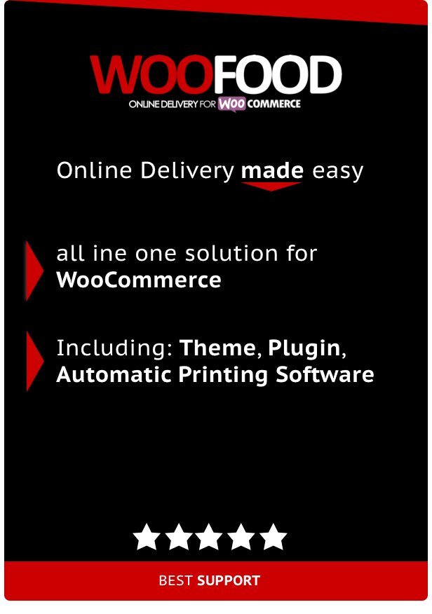 WooFood - Food Ordering (Delivery/Pickup) Plugin for WooCommerce & Automatic Order Printing - 1
