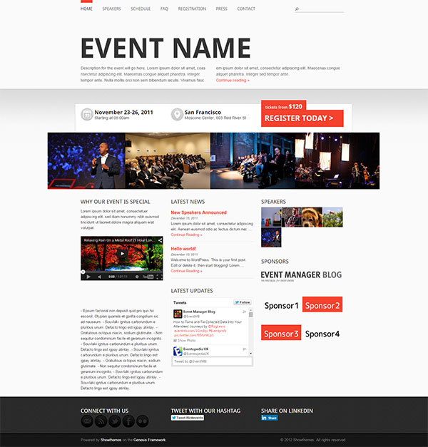 Event Manager Theme