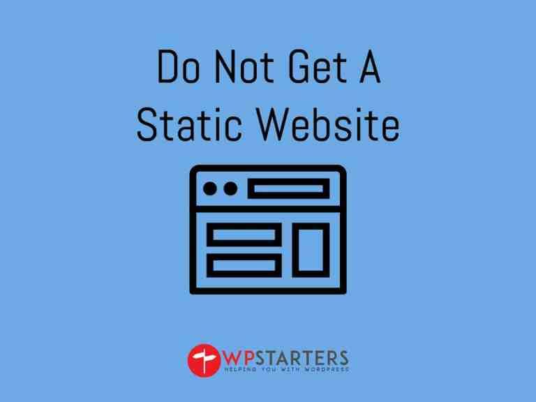 static websites v3 - Why You Should Not Get a Static Website