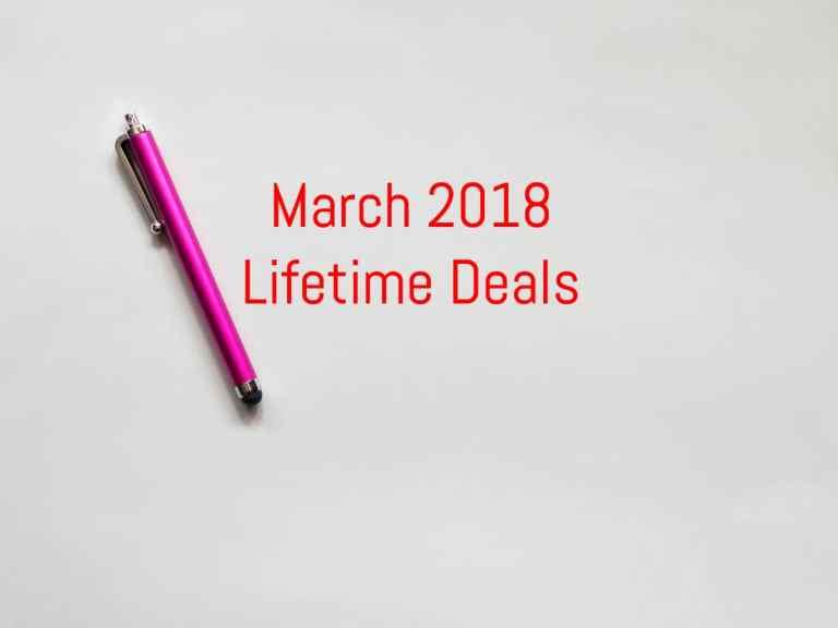 March 2018 Lifetime Deals